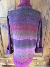 Anthropologie CURIO long knit cardigan sweater coat Medium button front