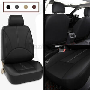 Single Front Car Seat Cover Universal Faux Leather Cover Cushion Stitching