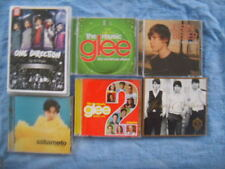 POP CD LOT of SIX (6) GLEEx2/JONAS BROS/BIEBER(1 world)/SAKAMOTO/1 DIRECTION(Up)
