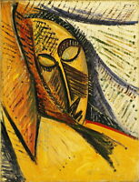 Pablo Picasso Head of a Sleeping Woman Giclee Canvas Print Paintings Poster Repr