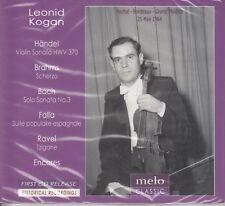 LEONID KOGAN RTF Recital 1964 Handel Brahms Bach da Falla Ravel ENCORES CD NEW