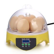 Automatic Clear Digital Chicken Duck Bird 7 Egg Incubator Hatcher Househould