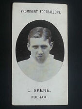 FOOTBALL 1908 Taddy cigarette Tobacco card: Fulham-di Skene