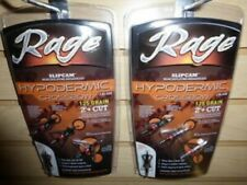 "Pair 2 Packs 39700 Rage Hypodermic Crossbow Broadheads 125 Grain 2"" Cut Slipcam"
