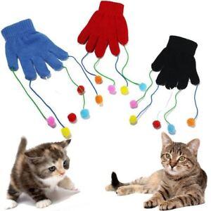 CAT KITTEN PLAY PET GLOVE TEASER TRICK PLAYING FUN TOY SCRATCH ACTIVITY MITT
