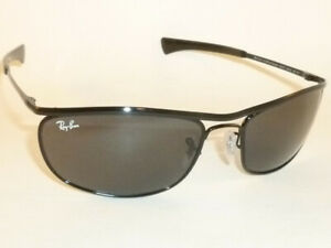 New Ray Ban  OLYMPIAN I Deluxe  Sunglasses Black Frame RB 3119M 002/R5 Gray/Blue