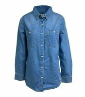 Ladies Denim Button Shirt With Front Top Pockets Size 8 - 18
