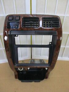 99-02 Toyota 4Runner 4 Runner Woodgrain Radio Stereo A/C Climate Dash Bezel Trim