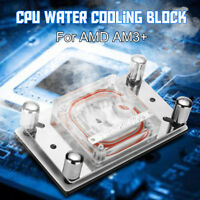 PC CPU Water Cooling Block Sprayable Liquid Cooler Micro Channel for AM2 AM3