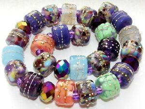 "Sistersbeads ""Peruvian Violet"" Handmade Lampwork Beads"