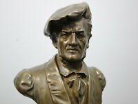 Bronzefigur,Richard Wagner,Eugen Börmel,Berlin,Germany,Büste,Jugendstil,um1900,