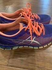 T6G6N - ASICS Gel-Quantum 360 - Blue / Pink - Size: Womens 9 Running Shoes