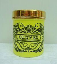 Cloves Spice Jar Portmeirion Pottery Dolphin Susan Williams-Ellis Yellow Grays