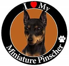 I Love My Miniature Pinscher Car Magnet