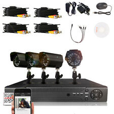HUNGKA 4-Channel H.264 Indoor/Outdoor DVR Kit Home Security system + 4pcs Camera