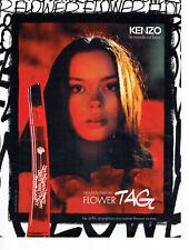 Publicité Advertising 107   2011  parfum femme Flower Tag  par Kenzo