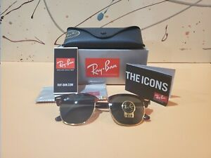 Ray-Ban Clubmaster Tortoise / Green G-15 Lens / 51mm 3016 W0366