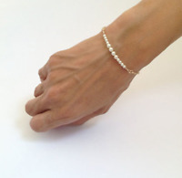 1Pcs White Pearl Beads Bangle Gold Plated Chain For Women Bracelet Jewelry Gift