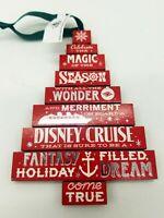 Disney Cruise Line Christmas Ornament Wonder Magic Dream & Fantasy DCL