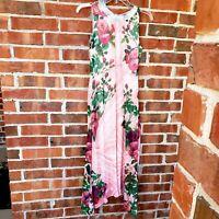 Anthropologie Butterfly Midi Dress Sz 0 Pink- Pankaj & Nidhi