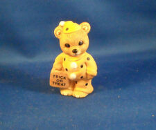 "Homco Trick Or Treat Porcelain Bear 2 1/2"" Tall Excellent Condition"