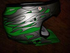 Hard Head Helment Racing Helmet Bmx/Moto Size S green with googles