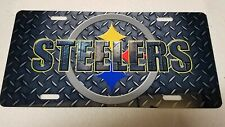 Pittsburgh Steelers Diamond Plate License Plate