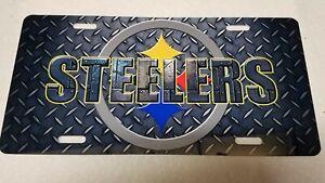 Pittsburgh Steelers Diamond Plate License Plate