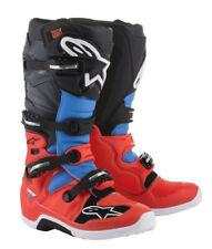 Alpinestars Tech 7 Red Cyan Grey Black Motocross Offroad Race Boots Adults