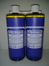 Dr. Bronners Pure Castile Liquid Soap 25 oz x2 hemp shampoo GLOBAL SHIPPING !