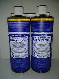 Dr. Bronners 2 JUMBO bottles 50oz Pure Castile magic Soap shampoo SameDay Ship !