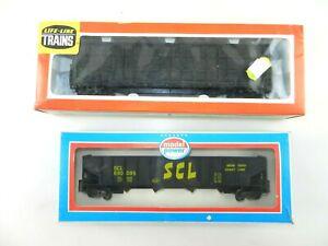 LifeLike 08985 Thrall Door Boxcar + Model Power 9073 SCL Hopper  T124