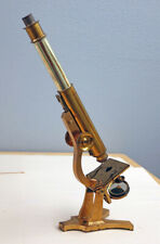 T. H. McALLISTER NYC ANTIQUE BRASS FUSEE CHAIN DRIVE STUDENTS MICROSCOPE C-1880