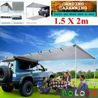 1.5x2m Car Side Awning Camping Shade Tent Roof Rack Screen 4X4 Outdoor Tent