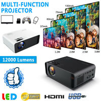 12000 Lumens 1080P HD LED Projector 3D Home Theater Cinema HDMI/VGA/USB/TV 3.5MM