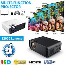 12000 lúmenes 1080P HD LED Proyector Cine Home Theater 3D HDMI/VGA/USB/TV 3.5mm