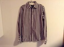 Scotch and Soda sz L Men's Shirt w/Logo on Back and Faux-pearl Snaps Rare Find!