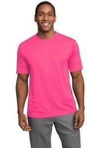 NEW MENS TALL MOISTURE WICKING DRY FIT Run Workout Short Sleeve T SHIRTS TST350