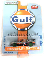 GREENLIGHT 51128 2009 CHEVY CORVETTE C6 R GULF OIL RACING #30 1/64 CHASE CAR