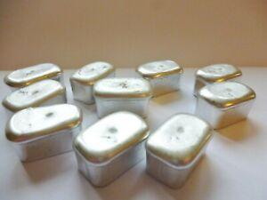 Pewter Loaf Bar Miniature Ingot ~ For Easy Casting ~ Low Melting Point ~ Crafts