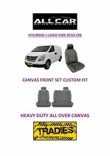 Canvas Car Seat Covers Front to suit Hyundai Iload Van 2010-on