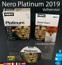 Nero Platinum 2019 Vollversion Box + CD 4K Multimedia 6in1 Brennsoftware OVP NEU