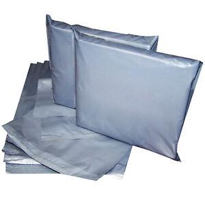 100 Gray Postal Mailing Bags Peel & Seel A Grade Mailer 6.5x9'' 165 x 229mm CS