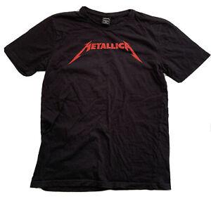 Metallica Mens Shirt Black Pre Owned Sz Medium Red Writing *L1
