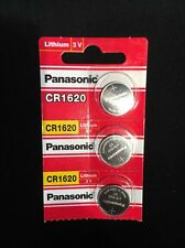 3 x FRESH NEW CR1620 Panasonic Lithium Button Cell Watch Battery ECR1620 1620
