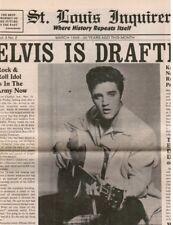 Elvis Presley: IS DRAFTED! (screams the headline in this retro tabloid REPRINT)