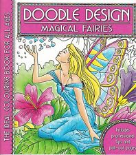 DOODLE DESIGN MAGICAL FAIRIES ~ Adult & older children colouring book Gift