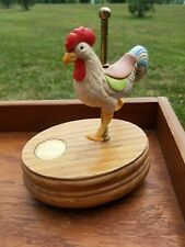 Hand Painted Porcelain Willitts Rooster Music Box - Countryside Carousel