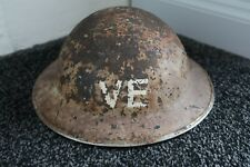 WW2 HELMET WITH VE DAY MARKING