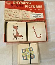 IDEAL SCHOOL SUPPLY CO. RHYMING PICTURES FOR PEG BOARD - VINTAGE